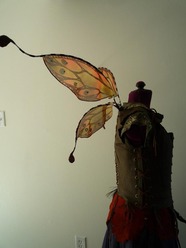 Faerie wings, Fairy wings, Woodland wedding, Wedding, Costume, Halloween, Rennaisannce, Elf, Elven, Fae, MummersDream, Pixie. $110.00, via Etsy.