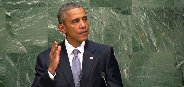 "OBAMA SPEAKS AT UNITED NATIONS SAYING WORLD NEEDS GLOBAL GOVERNANCE - In an apparent attempt to justify the retreat of the United States from international leadership, President Obama praised the United Nations Monday, arguing that global governance has helped spread democracy. It was his last address to the world body. ""There are those who argue [...]"