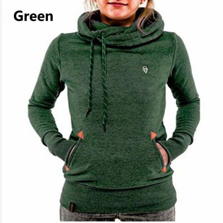 Women Hoodies Sweatshirt Long Sleeve Hooded Pocket Design Warm Hoodie Women