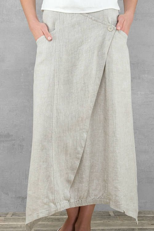 Long linen skirt natural linen colour linen summer skirts