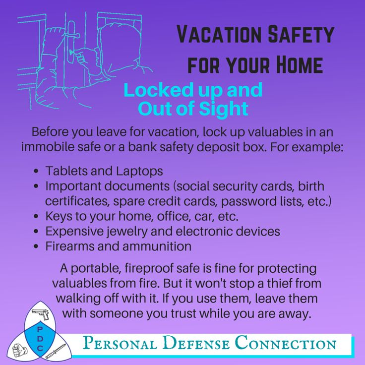 keep your home safe while you are on vacation before you leave for vacation
