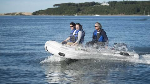 Sea Eagle 10ft 6in Sport Runabout Boat with Rigid Inflatable Keel - Free Shipping Code Water