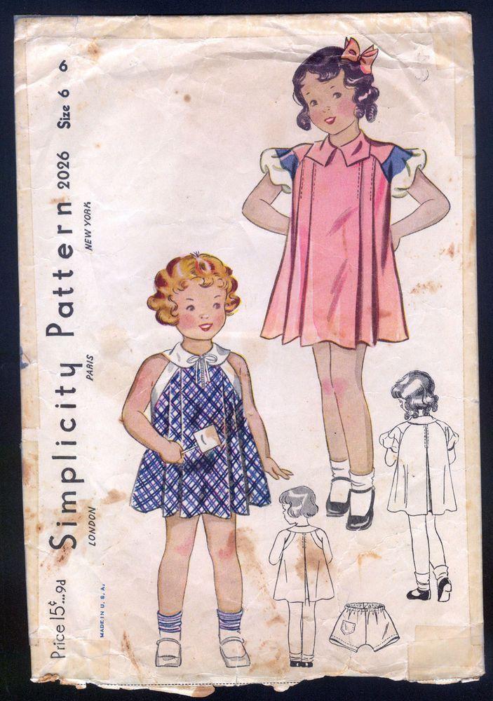 The 167 best vintage patterns children images on Pinterest | Kids ...