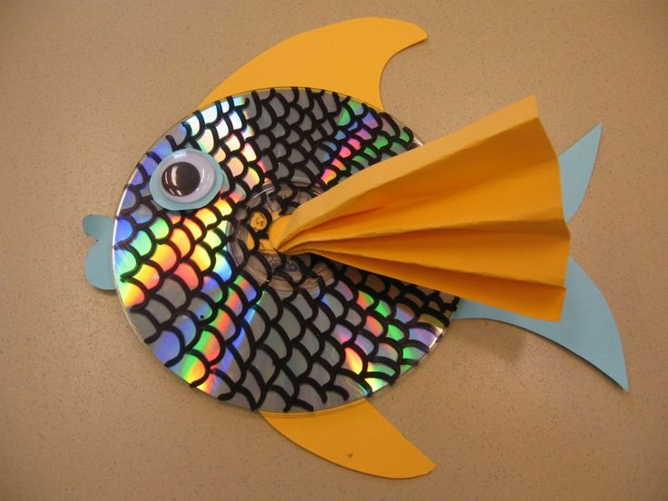 CD Fish - #art, #diy, Crafts