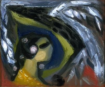 Paul Emile Borduas, le cygne et le serpent. Follow the biggest painting board on Pinterest: www.pinterest.com/atelierbeauvoir