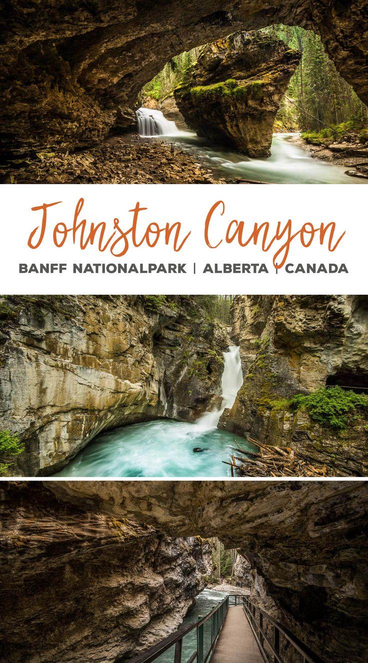 Wandern im Johnston Canyon