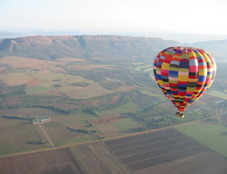 A balloon ride over the Magalies River Valley, #SouthAfrica, also passes over the Cradle of Humankind UNESCO World Heritage Site and #Johannesburg.