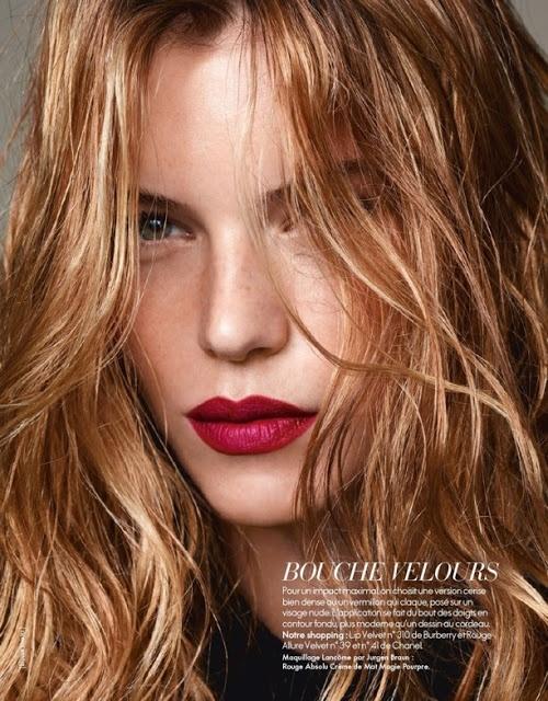 velvet red lips ELLE  FR