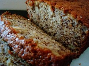 The best sour cream banana bread ever! Cut down a bit of sugar and add chocolate chips. Yum!