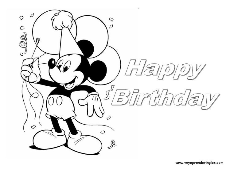 Coloring Pages Mickey Mouse Birthday : Best images about coloring pages on pinterest diy