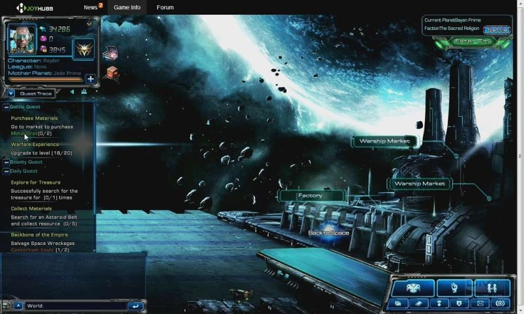 Siege on Stars is an online browser based game, SciFi