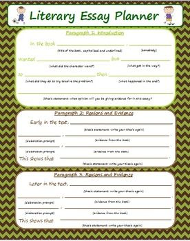 graphic organizers for literary essays