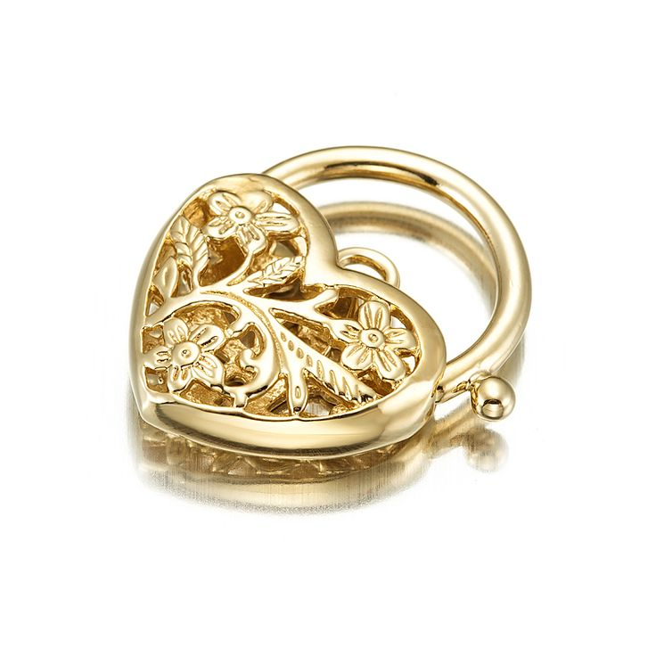 18ct Yellow Gold Layered Filigree Heart Locket | Allure Gold