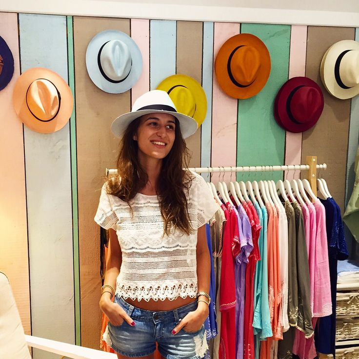 Alexia Klein's designer in St Barth with #ecuaandino #panamahat