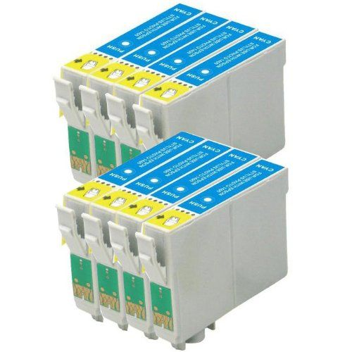 From 4.69 Aainks Compatible Ink Cartridges Replacement For Epson T0712 To712 Et0712 Printer Ink (8x Cyan/blue Ink)