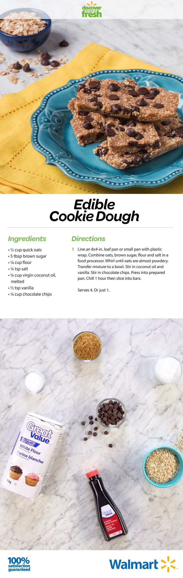 When we were kids, we ate raw cookie dough. Today not much has changed, except the recipe! This easy (and super-affordable) option only takes a few key ingredients.