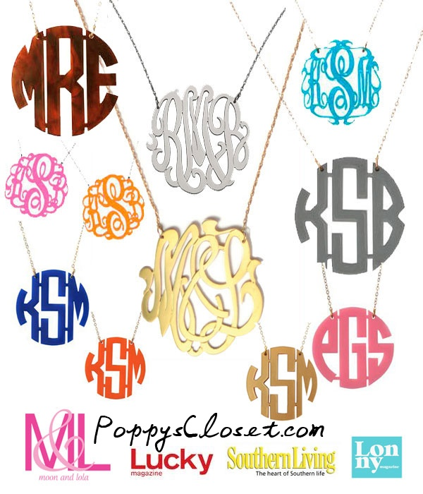 Tis the Season, get your custom orders in early... $58 #gifts, jewelry, necklace // poppyscloset.com our hotest seller!!: Ideas, Monograms Necklaces, Style, Monograms Jewelry, Color, Bridesmaid Gifts, Holidays Gifts, Accessories, Monogram Necklace
