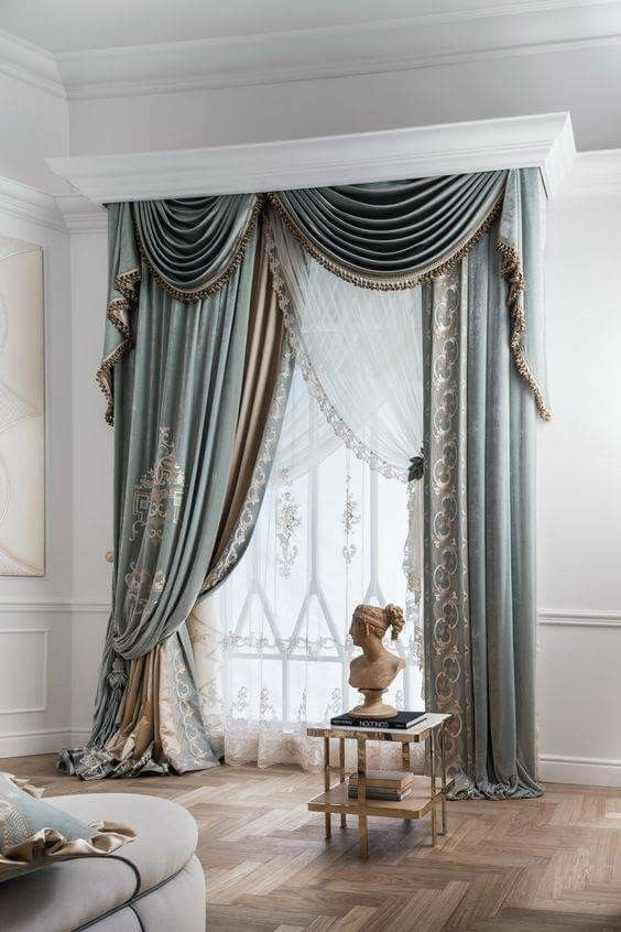8 Best Panel Curtains Images On Pinterest: 2745 Best Elaborate Window Treatments -n- Headboards