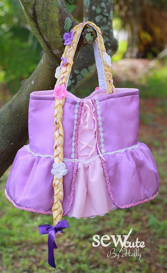 Rapunzel Inspired Princess Bag  Medium by hollybeam1 on Etsy, $35.00  Made to Order