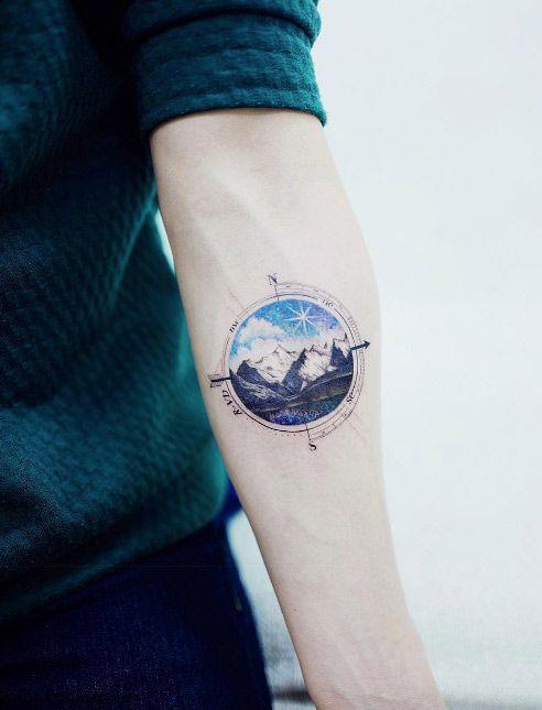 Landscape mountain range piece by Tattooist Banul