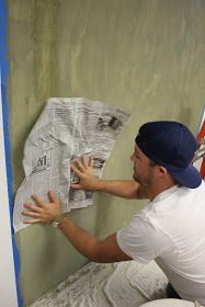 Would you like to learn how to do a paint technique called Frottage? The entire wall along one side of the shop is our vignette wal...