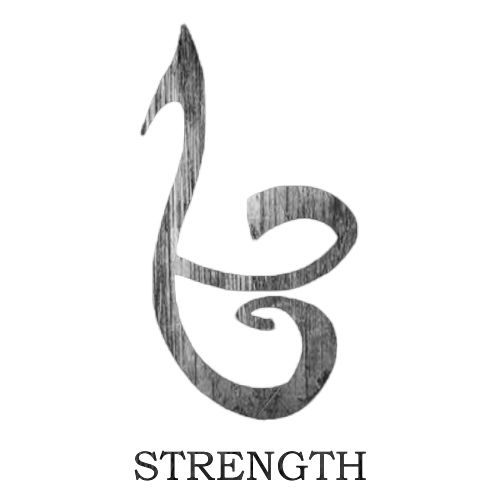 The Mortal Instrument Series-The Strength Rune. I'm getting this tattooed or the love rune or the fearless rune!