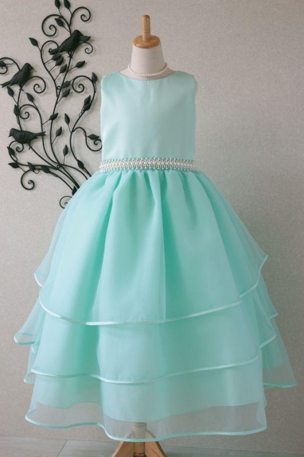 子供ドレス 発表会 結婚式 5-334(160cm)ミント