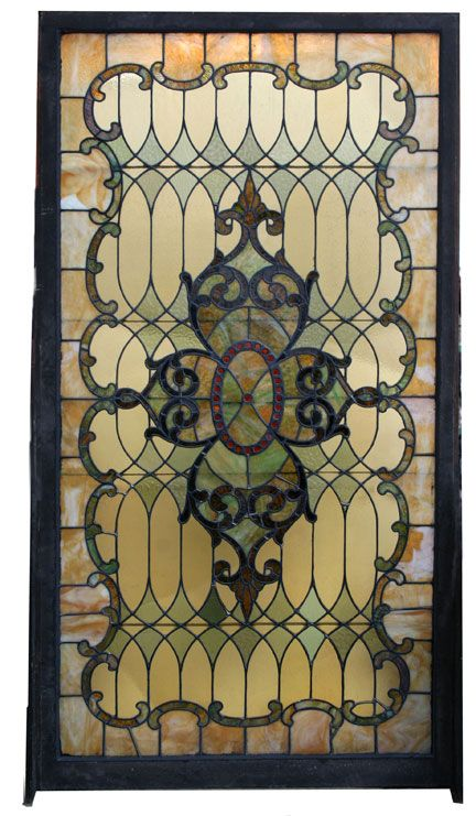 ❤ -Antique Stained Glass Landing Window ca.1900-1910 - Wooden Nickel Antiques, Cincinnati Ohio