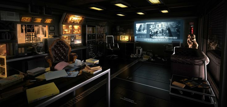 Deus Ex Lab Personal project  This image based on Deus Ex concept. 3ds max, Vray, Photoshop  high res http://goo.gl/cTBkse