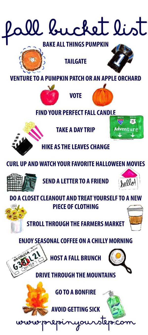 fall bucket list // to do list