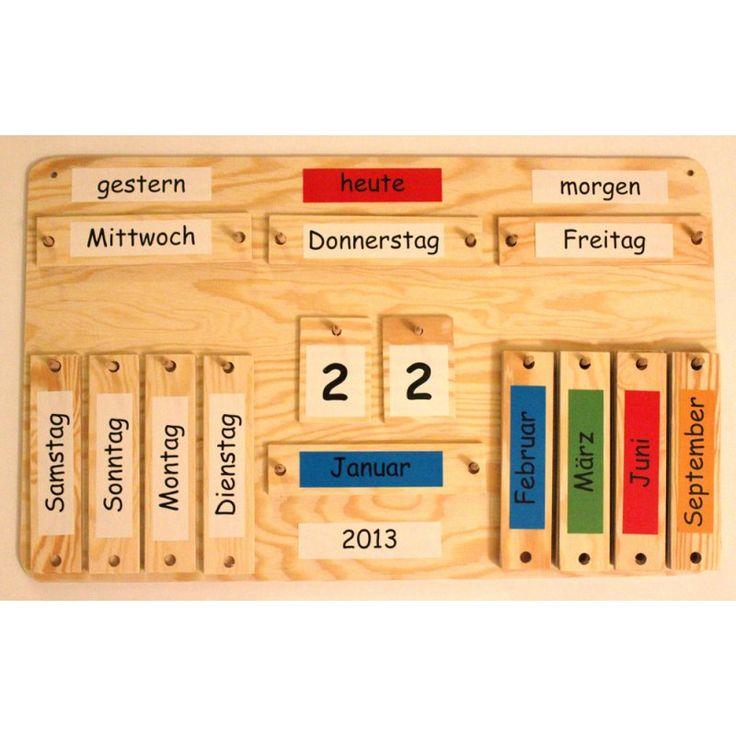 Holzkalender jahreskalender ca 38x60 cm kinder - Kalender selber machen ideen ...
