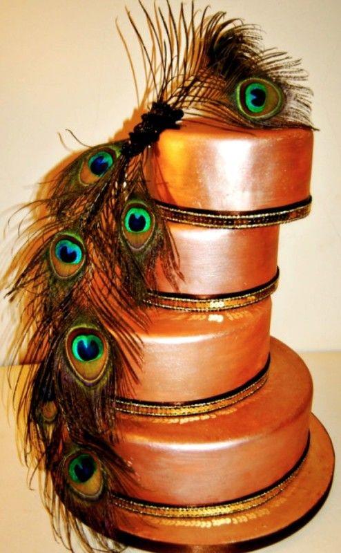 Copper Art Deco Cake    Mamma Jamma Cakes