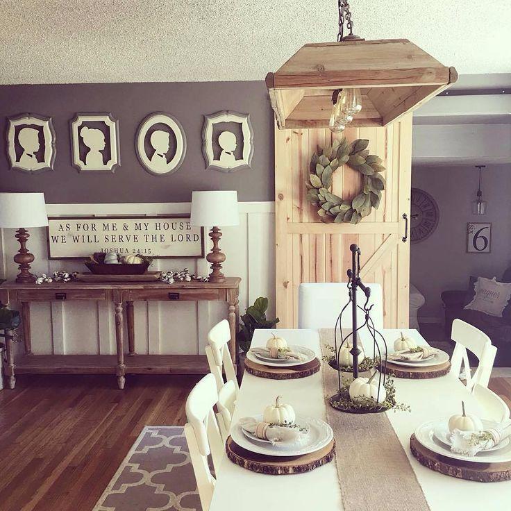 I Spy Antique Farmhouse in Sarah's fresh & bright #homedecor! Our Trough Light has a perfect #home too!  #lighting