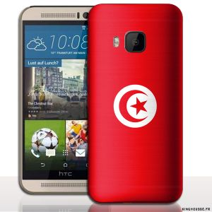 Coque M9 HTC - Drapeau Tunisie. #coque #m9 #htc #tunisie #drapeau