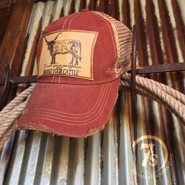 Weve missed you! Finally restocked everybodys favorite Brand Your Cattle Cap  #leatherpatch #ballcap #destroyeddetails #love #ranchlife #savannah7s