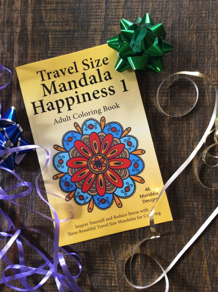 Mandala Happiness 1 Travel Size Perfect Gift For The Holidays Coloring BooksAdult ColoringHappinessMandalas