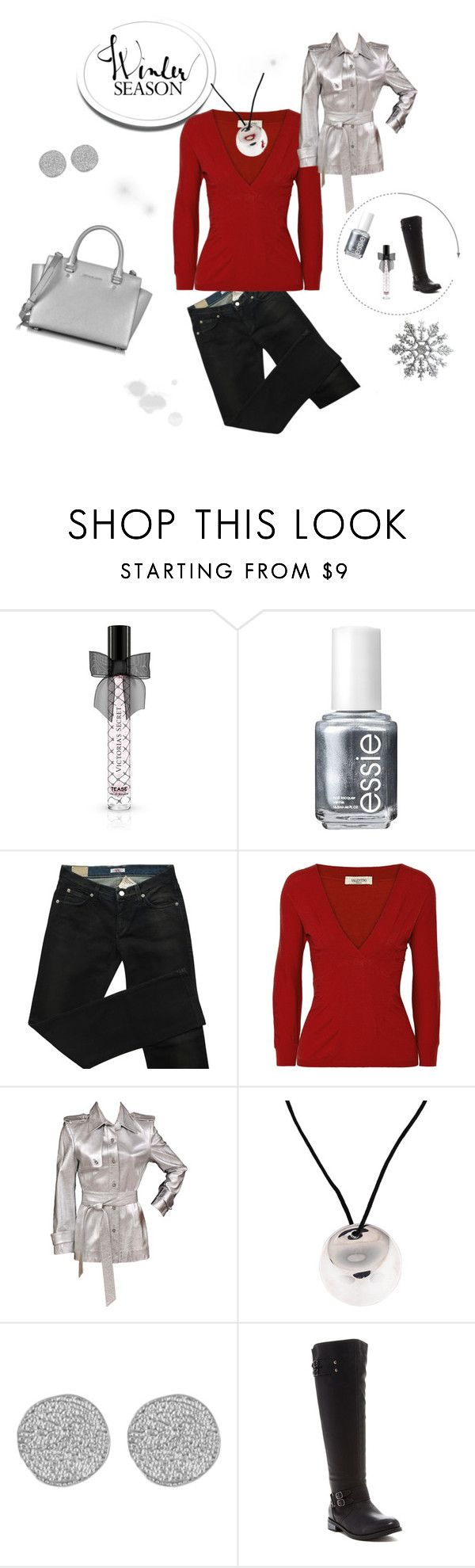 Chilly Weather by keetyrn on Polyvore featuring Valentino, Versace, Chase & Chloe, Michael Kors, Karen Kane, Tiffany & Co., Victoria's Secret and Essie