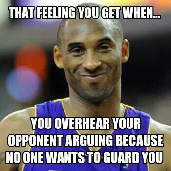 Other way around. Most of the time the opponent gets really mad when I'm defending them.