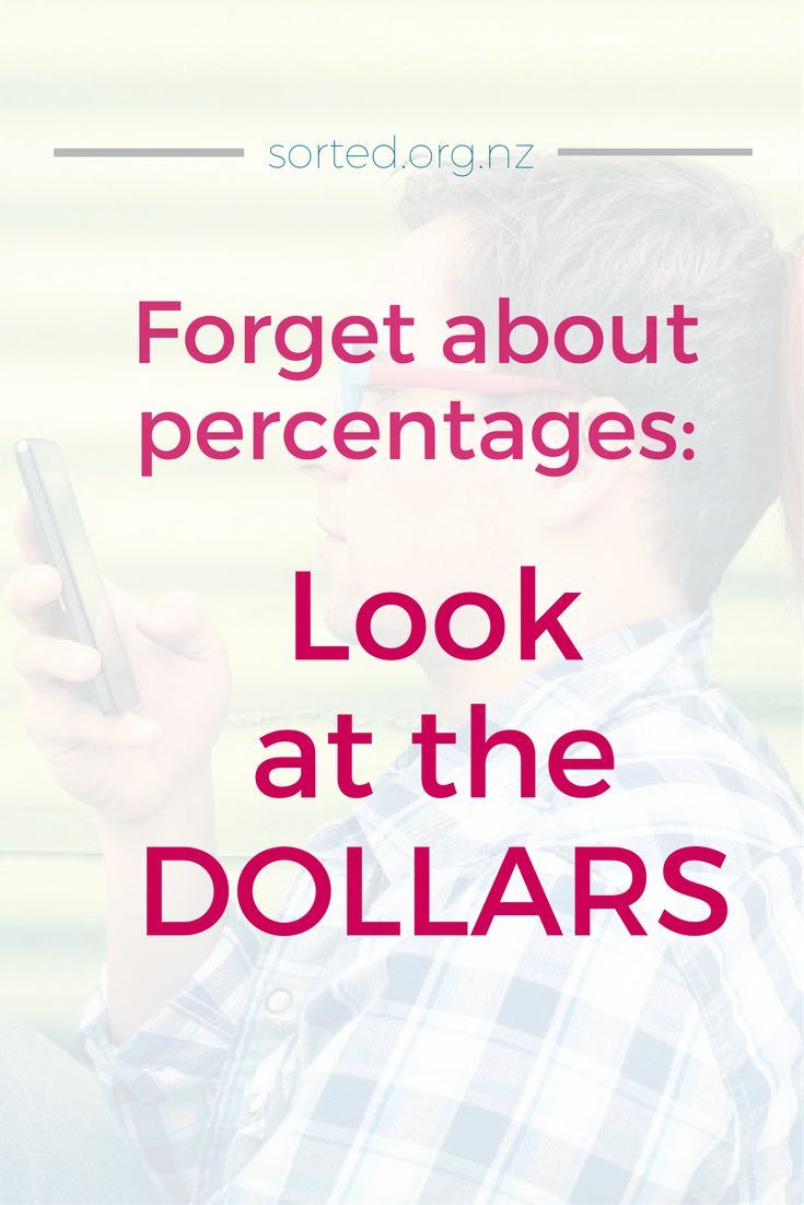 When it comes to money, especially debt, it's easy to get lost in percentages. But it's the dollars we need to focus on! Always ask: what dollar amounts do they translate into?