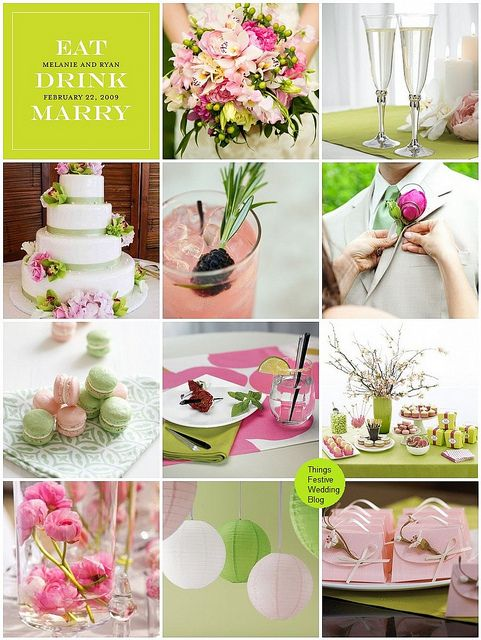 152 best spring wedding themes images on pinterest spring wedding idea pink and lime wedding theme featuring pantones bright chartreuse pink flambe junglespirit Choice Image