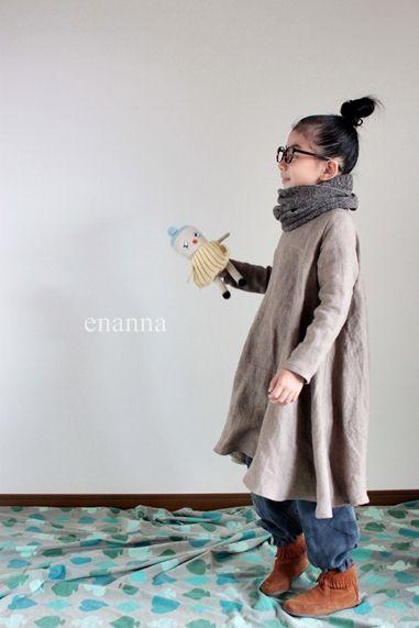 リネンフレアワンピース - enanna