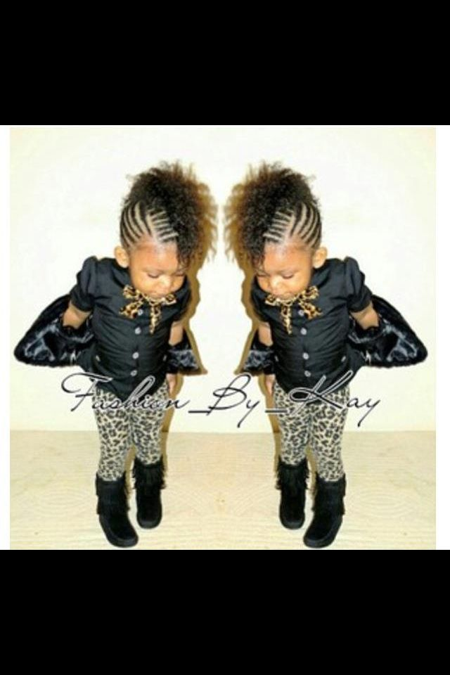 Braided Mohawk. Super cute. I want my kids to have hair like this