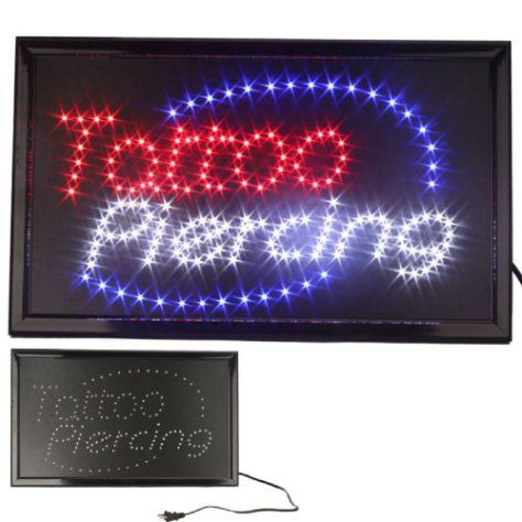 UbiGear 10 * 19 inch Animated Motion LED Business Tattoo Piercing Shop Sign Switch Open Light Neon - http://www.yourdreamtattoos.com/ubigear-10-19-inch-animated-motion-led-business-tattoo-piercing-shop-sign-switch-open-light-neon/?utm_source=PN&utm_medium=http%3A%2F%2Fwww.pinterest.com%2Fpin%2F368450813235896433&utm_campaign=SNAP%2Bfrom%2BYour+Dream+Tattoo
