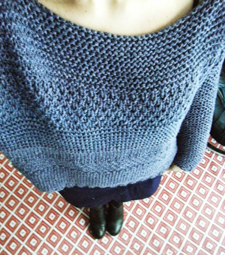 Olá knitters! Eu queria um grande suéter largo, história de ...
