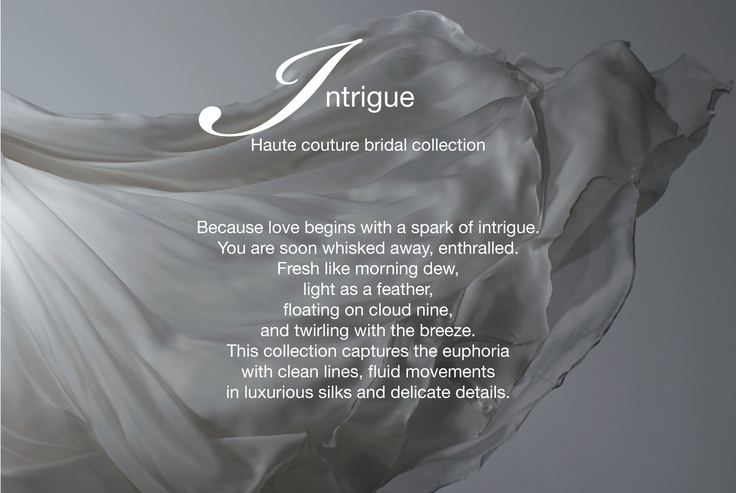 Intrigue haute couture bridal collection