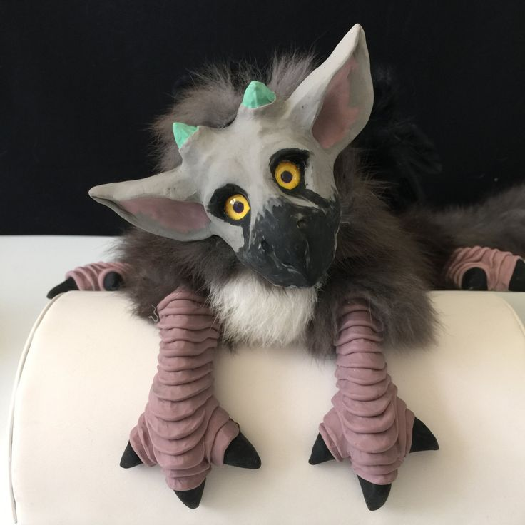 Griffin TRICO puppet - The Last Guardian Winged Creature - Fantasy Creature Mythical Animal Cosplay Animal Puppet Shoulder Puppet Familiar by FolorsFantasy on Etsy