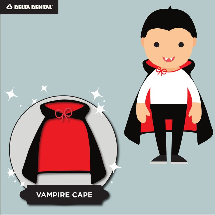 Trick-or-treat Twilight-style! Get your kids ready with this D.I.Y. Dracula cape: