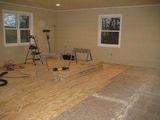 cheap flooring diy idea plywood cut into 15cm wide strips