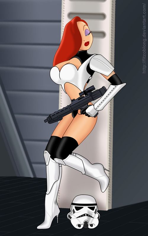 Jessica Rabbit in Star Wars, TRON & More Fan Art http://geekxgirls.com/article.php?ID=1506