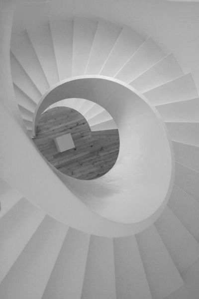 White nautilus #staircase #interiors Treppen Stairs Escaleras repinned by www.smg-treppen.de #smgtreppen